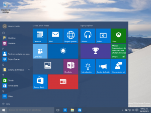 Menú Windows 10